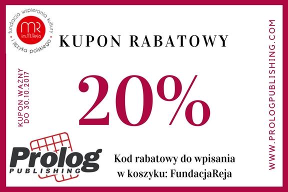 20% zniżki na książki wydawnictwa Prolog